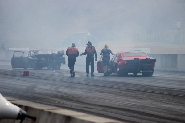 The crash crew were on the scene before the smoke cleared after the Miller Dixon incident