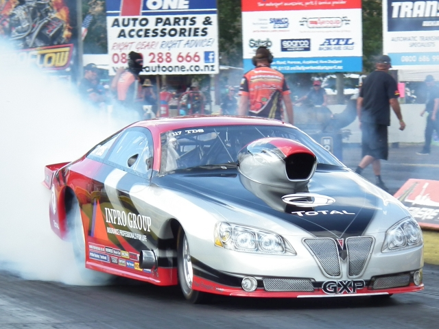 Rex Ducket was competing in Top Doorslammer, at a Nationals for the first time, in his Inpro Group GXP. He got through to the semi finals, but had a starter failure