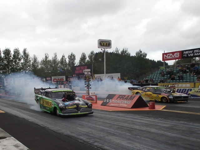 After a frantic supercharger swap, the first round burnouts was as far as Wayne Yearbury got in eliminations